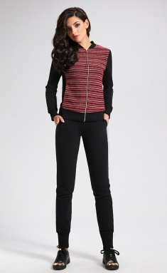 Activewear AYZE 1373 chernyj/bordo