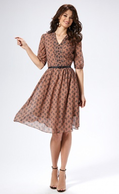 Dress AYZE 1493 kapuchino