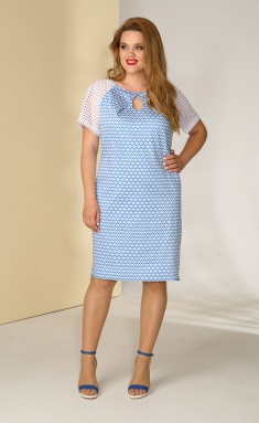 Dress Golden Valley 4388-1 golub romby