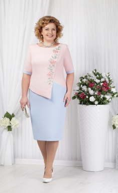 Dress Ninele 5619 pudra+goluboj