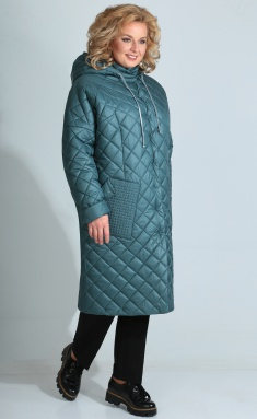 Coat Golden Valley 7095-2 temno-biryuzovyj