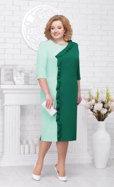 7c77d74b684 Платье Нинель 7225 изумруд+свет.зелен