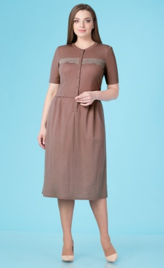 Dress Linia L B-1661 ottenki korichnevogo