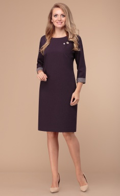 Dress Linia L B-1760 baklazhan