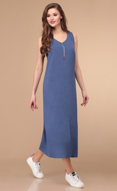Dress Linia L B-1795 ottenki sinego