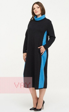 Dress Newvay 182-2323 t.antracit/gzhel